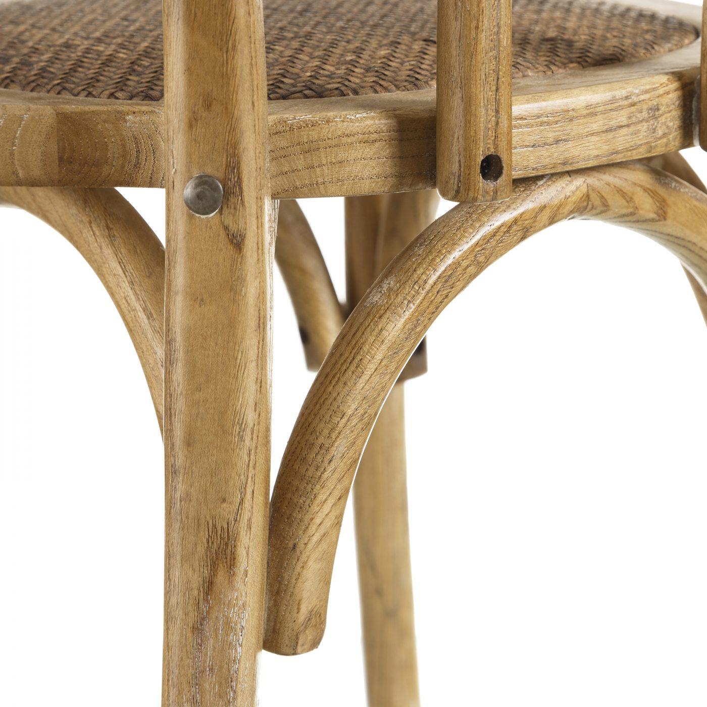 silla madera natural madera de olmo
